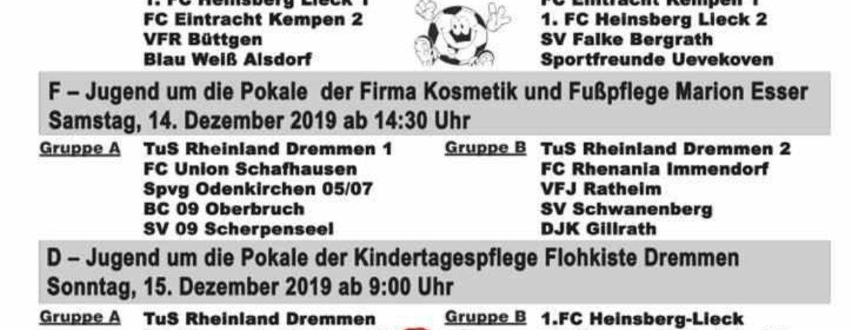 6. Weihnachtscup der Fußball-Jugend am 14.-15.12.2019